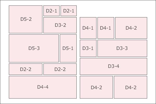 『ディースター』(関西版)枠サイズ表